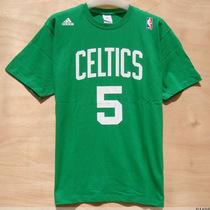 热卖2013圆领NBA篮球短袖运动T恤男 加内特5号凯尔特人纯棉透气 价格:38.00