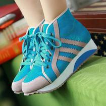 2013秋天高邦板鞋女 厚底牛筋底平底鞋 学院风潮流慢跑鞋学生鞋子 价格:107.20