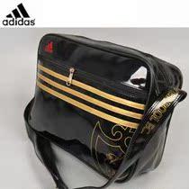 特价adidas阿迪达斯 新款热销 切尔西金条单肩包休闲运动包 黑金 价格:68.00