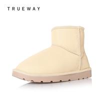 短筒靴雪地靴女鞋休闲短靴糖果色人造革加厚底保暖防水 出位td-48 价格:99.00