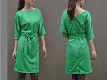 外贸原单品质 60年代复古风 一字领蝴蝶结连衣裙 优雅长裙 价格:149.00