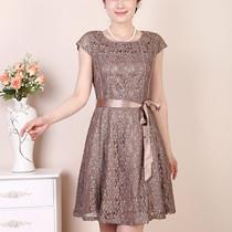 特价 2013夏装新款 韩版修身显瘦蕾丝连衣裙大码中年女装真丝裙子 价格:138.00