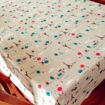 新品包邮 巴黎铁塔棉麻茶几桌布艺田园欧式台布餐桌蕾丝盖布定做 价格:5.80