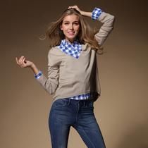 特价 MAX*MARA专柜款 深V领真丝+棉造型针织衫毛衣 长袖女款 价格:158.00