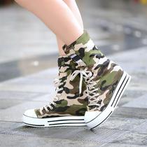 2013年秋冬新品百搭时尚霸气军装舒适平跟布面材质高帮靴6613 价格:50.00