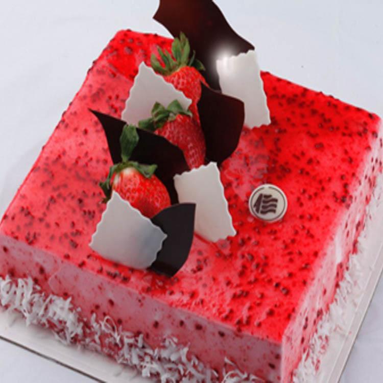 甘肃名牌安旗蛋糕店兰州生日速递快递配送订水果巧克力贝拉覆盆子 价格:199.00