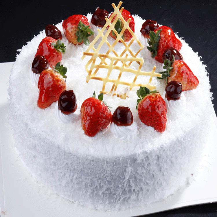天水安旗蛋糕建设路店天水生日速递快递配送订鲜奶水果100度热吻 价格:199.00