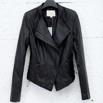 艾格专柜正品2013 PU皮衣 女 短款 新款女立领机车皮衣女 修身 价格:139.00
