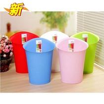 飞达三和椭圆形垃圾桶 无盖卫生桶 时尚家用多彩垃圾桶8L 价格:16.00