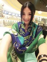 [8293]欧美复古链条图案大方巾 秋季女士棉麻围巾披肩两用 价格:24.50