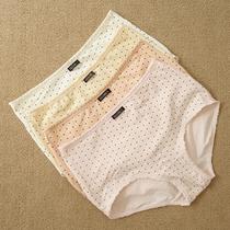 女士内裤 高弹力 舒适 平角 中高腰 花边 纯棉 盒装2条装 价格:20.00
