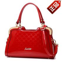 品牌2013秋季新款女包漆皮手提包女式单肩包结婚包红色新娘包特价 价格:388.00