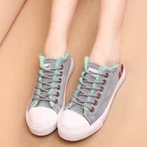 2013新款韩版潮牛仔布毛边低帮帆布鞋平底鞋休闲鞋球鞋布鞋子女鞋 价格:45.24