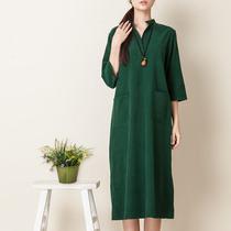 未来之前 原创2013秋新复古灯芯绒套头气质长款连衣裙 女 价格:199.00