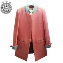 雨咔呢2013新款秋冬大衣毛呢外套中长款韩版羊绒大衣女呢料外套女 价格:228.00