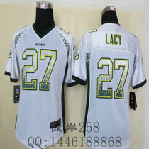 NFL Women Packers 27 Lacy Drift Fashion White Elite Jerseys 价格:95.00