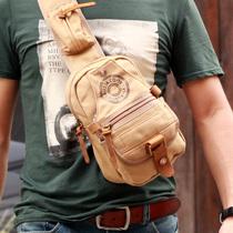 时尚个性胸包男士韩版潮流帆布包男包户外休闲小包男式手机包潮包 价格:63.00