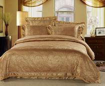 包邮 奢华床品 天丝棉提花床上用品四件套 狄安娜-金驼 价格:258.70
