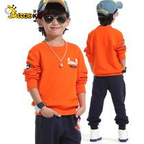 亚卡比童装 男童秋装2013新款 中大儿童运动套装 儿童卫衣套装潮 价格:99.00