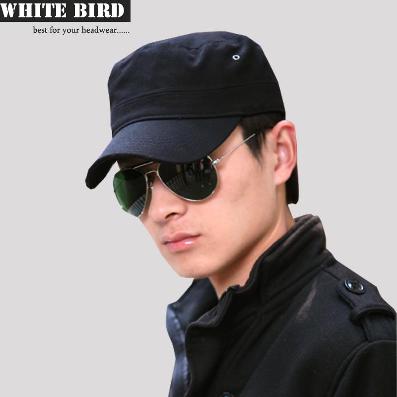 包邮WHITEBIRD正品帽子男士韩版平顶帽潮户外女帽男秋冬军帽情侣 价格:35.00