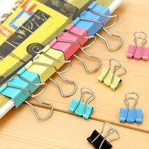 安安家 日韩国文具 晨光彩色燕尾夹 文件夹票据夹 试卷夹子长尾夹 价格:0.25