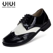 uiui 全国包邮 儿童黑色皮鞋男女 男童真皮皮鞋 男孩黑皮鞋演出鞋 价格:128.00