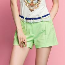 2013夏装新款 简约百搭直筒中腰显瘦修腿短裤/热裤 女 价格:99.00