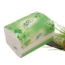 清风绿茶双层200抽原木浆纯品 面巾纸 抽纸巾 餐巾纸 纸质强韧 价格:3.20