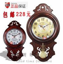 北极星古典中式简约静音木挂钟石英钟72日本丽声机芯客厅摇摆 价格:228.00
