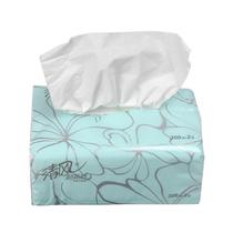 正品清风纸巾超质感双层200抽纸巾 单包软包装纸巾 面巾纸 餐巾纸 价格:3.90
