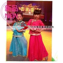 2013新款儿童古装女孩古筝古琴演出服学生装 民国服装 红色小姐装 价格:108.00