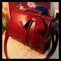 包包2013新款学院风复古包酒红色单肩包手提包镂空女包小清新潮女 价格:39.50