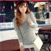 时尚 2013韩版针织衫秋冬女装 时尚外套 毛毛外套皮草大衣短款女 价格:65.00