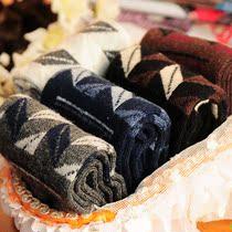 8655 热卖经典绅士袜子菱形格 棉袜加厚秋冬季男士袜 男袜毛圈袜 价格:4.90
