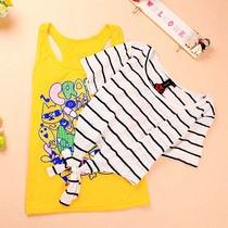 阿桑娜少女装中学生女士时尚夏天女t恤 可爱小熊维尼两件套装T恤 价格:64.00