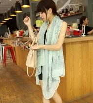 雪纺围巾女 韩国版 秋冬 丝巾 披肩 围脖长款两用圆 价格:9.90