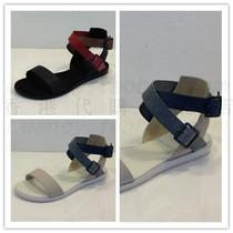 大促包�]促�N香港正品代�lacoste法���{�~女款平跟露趾罗马凉鞋 价格:788.50