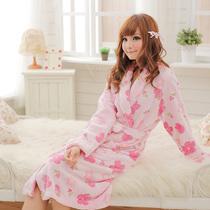 【特价】 加厚珊瑚绒睡袍 珊瑚绒浴袍 春秋睡衣 女 8007 价格:52.00