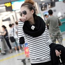 2013春装 新品打底衫韩版女装衣服条纹宽松潮流 长袖t恤 女款小衫 价格:6.00