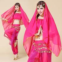 2013演出服套装 新款肚皮舞服装 印度舞服装演出 灯笼裤三件套 价格:55.00