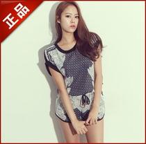 韩国kr_DABA正品代购2013新款运动休闲棒球印花套装上衣+裤子现货 价格:258.00