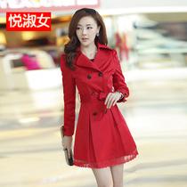 女式风衣外套2013秋装外套韩版中长款蕾丝女风衣新款女装春秋外套 价格:172.00