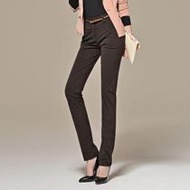 逸阳女裤专柜正品秋 2013新秋款 OL修身显瘦大码 小直筒长裤0224 价格:149.00