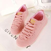 新款促销磨砂帆布鞋 女 韩版甜美学生淑女布鞋低帮牛筋软底女单鞋 价格:39.90