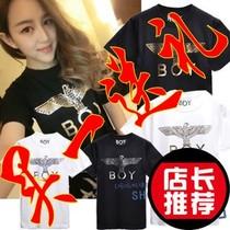 夏装潮BOY LONDON人气歌谣Bigbang时尚简约老鹰字母短袖女T恤原宿 价格:12.80