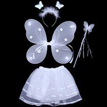 儿童表演服装 天使蝴蝶翅膀四件套无金粉 玩具演出道具天使棒 价格:16.80