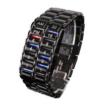 正品钢铁苍穹CF二进制电子熔岩二代韩版创意LED手表学生男士包邮 价格:67.00