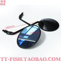 电动踏板车龟王圆黑后视镜 台铃/雅迪/爱玛 反光镜 倒车镜后视镜 价格:10.00