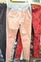 精品长裤薄款铅笔裤小脚韩国休闲裤显瘦 裤薄 松紧女装格子学院风 价格:75.00