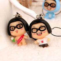 6176韩版菜菜公仔 手机挂 情侣包包配饰手机链有挂绳版3.5cm款 价格:1.50